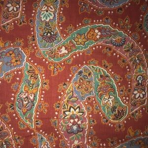 "80 x 65"" vintage craft fabric Red green blue"